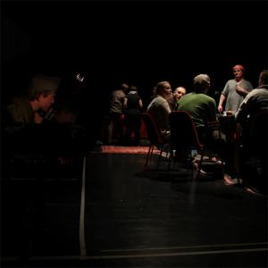 Baader-Meinhof Experiment at Riksteatern. Photo: Gabriel Widing. Larp credit: Erlend Eidsem Hansen
